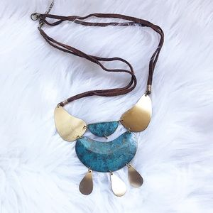 Gorgeous Brass Turquoise Necklace✨